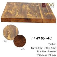 Buy cheap Fire Burnt finish table tops from Wholesalers