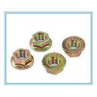 Buy cheap Carbon Steel /Color Zinc Plated Hex Flange Nuts (DIN6923) product