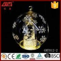 Buy cheap wholesale clear christmas ornaments glass ball with led angel inside product