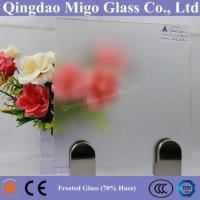 Buy cheap 70% Frost Degree Extra Clear Acid Etched Frosted Glass product