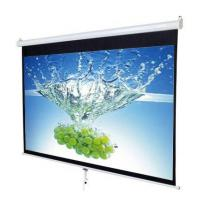 manual pull down rear projection screen