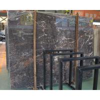 Buy cheap Polished Italian black and gold marble slab for sale product