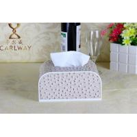 Buy cheap High-grade tissue boxes cortex smoke box leather black gold arch tissue box car home product