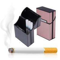 Buy cheap Light Aluminum Cigar Cigarette Case Tobacco Holder Pocket Box Storage Container product