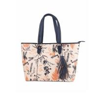 Buy cheap Handbags Floral Print Accented Tote Bag product
