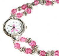 Buy cheap Awareness Bracelets Breast Cancer Awareness Double Strand Crystal Watch from wholesalers