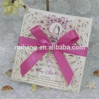 Buy cheap Gifts & Crafts handmade & best selling wedding invitation card product