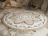 Buy cheap Stone Tiles & Slabs Polishing Round Stone Waterjet Medallions In Your Own Designs product