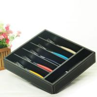Buy cheap hollow out bamboo cutlery tray product