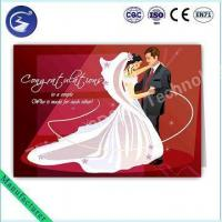 Buy cheap Customized Design 3D PP Lenticular Wedding Card Greeting Card product