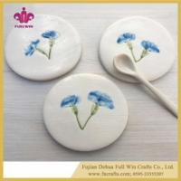 Buy cheap Ceramic Coaster Colorful or Blank Table Coaster for Cup Holder with Cork Base product