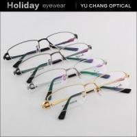 Buy cheap Pure Titanium Vogue Men Frame Golden Silver with Tips product