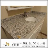 Buy cheap Polished Custom Tiger Skin White Granite Vanity Tops with Sink for Small Bathroom Design product