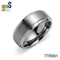 China Black titanium wedding ring unique designs jewelry on sale
