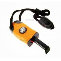 Buy cheap Outdoor Smart Easy Survival Kit Stone Fire Starter Magnesium Flint with Compass Whistle from Wholesalers