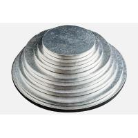 Buy cheap round silver thick corrugated cake drums product