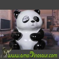Buy cheap Animal figurine Panda handcrafted from fiberglass for gifts product
