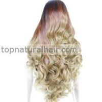 China Glueless Ombre Body Wavy Curly Synthetic Lace Front Wig Heat Resistant Cosplay wigs on sale