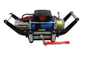 Quality 12V/24V Electric Winch Synthetic Rope Winch 6000lb for sale