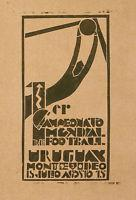 Buy cheap Rare Vintage Poster Of World Champion Soccer Game Urugay Montevideo Fifa C. 1930 product