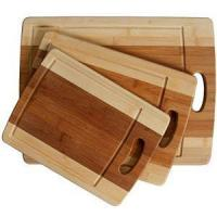 Buy cheap 3-Piece Organic Bamboo Cutting Board Set With Drip Groove from wholesalers