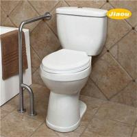 Buy cheap Wall to Floor L Shape Toilet Grab Bar Brushed from Wholesalers