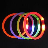China Eco-friendly Silicone USB Rechargeable Battery Waterproof LED Lighted Dog Collar on sale