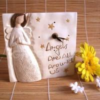 Buy cheap GLP11632 angel Polyresin angel recordable clock from Wholesalers