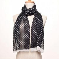 Buy cheap Polyester dot printed scarf product