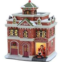 """Buy cheap 7.625"""" Fire Department Christmas Village , Holiday Time from Wholesalers"""
