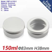China 150ml 5OZ Round Metal Aluminum Tin Can with Screw Cap for Food Container on sale