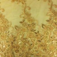 Buy cheap Embroidery wedding lace trims, Decoration with cord and imitation pearl, available in colors from wholesalers