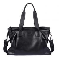 Buy cheap Pabojoe Genuine Leather Men Bag Business Fashion Black Soft Leather Handbags Zipper Briefcase product