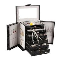 Buy cheap Extra Large Jewelry Box Cabinet Armoire Bracelet Necklace Storage Case Zg231 from Wholesalers