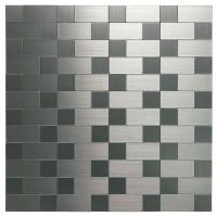 Buy cheap A16015 - Aluminum Mosaic Tile, Peel & Stick, Backsplash, Accent Wall, 9.7 sq.ft, Silver from wholesalers
