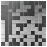 Buy cheap A16011 - 10 Sheets Peel & Stick Metal Mosaic Aluminum Tile Silver Square 12x12In from wholesalers
