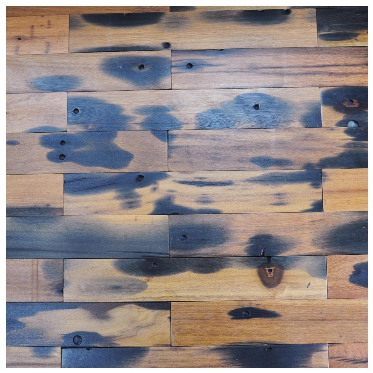 Buy cheap A15602 - Reclaimed Boat Wood Tiles 4 X 24 In Interior Wall Mosaic from wholesalers