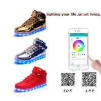 Hot Sale USB Charging LED Shoes With App Control High Upper Board Shoes For Man & Woman