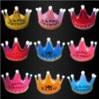 LED Party Hats King And Princess Logo LED Light Up Hats For Kids And Adults Birthday Party Caps
