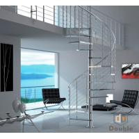 Glass Step Spiral Staircase/Stairs for Interior