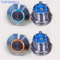 China 12mm Led Illuminated Metal Tactile Push Button Momentary Contact Switch Wiring With 2pin Or 4pins on sale