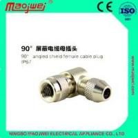Buy cheap M9 right aangle shield female cable plug Circular Connectors from Wholesalers