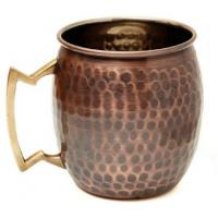 Buy cheap Antique Copper Plated Curved Moscow Mule Mug - Hammered 550ml Item Code:MUGS0003 - AT product