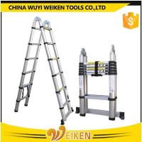 Buy cheap 1.9m+1.9m, 3.8m aluminum double side telescopic ladder product
