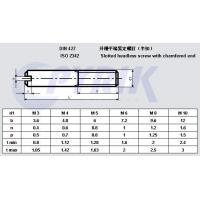 Buy cheap Description:DIN427 Slotted headless screw with chamfered end product