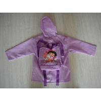 Buy cheap Children's Polyester Purple Packable Rain Jacket With Hood product
