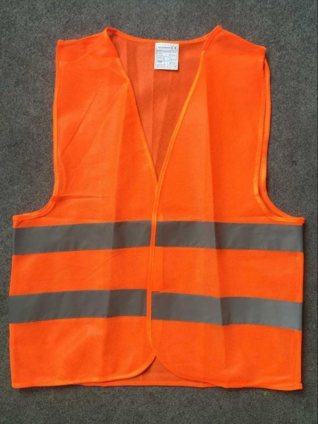 Quality Orange Red Polyester Reflective Hi Vis Safety Vest With Reflective Tape for sale
