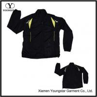 Buy cheap Black Polyester Sports Sporty Sport Jacket For Men from wholesalers