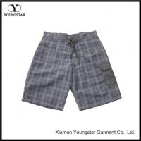 Buy cheap Plaid Pattern Men's Swimwear Board Trunks Shorts Without Lining from wholesalers