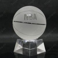 Buy cheap Basketball Crystal Trophy Item#: CCT-BASKETBALL-1201 product